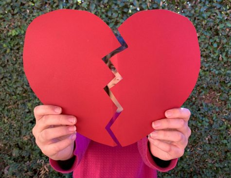 Joelle Brandts, 9, holding a heart for February 14.