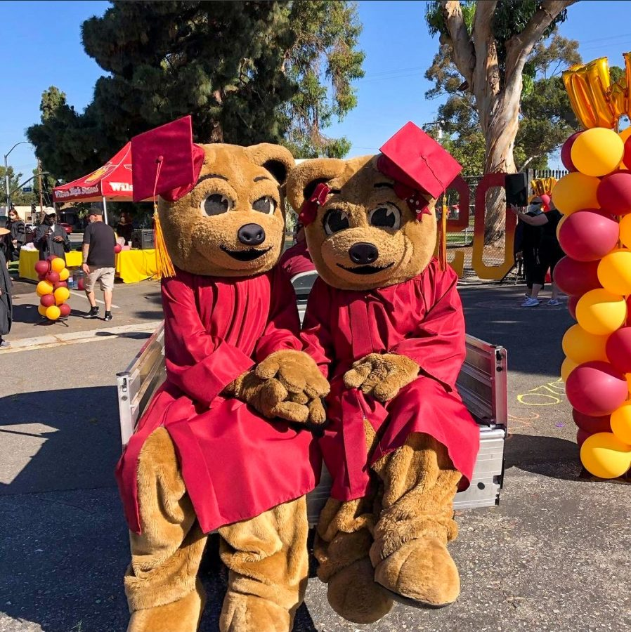 Woody and Wilma at 2020's drive-through graduation.