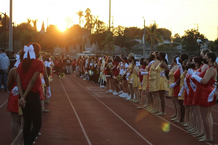 Bruinettes, cheer and drumline prepare to welcome the senior football class